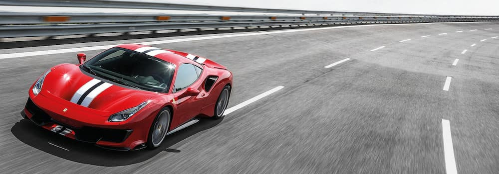 Ferrari 488 Pista on the track