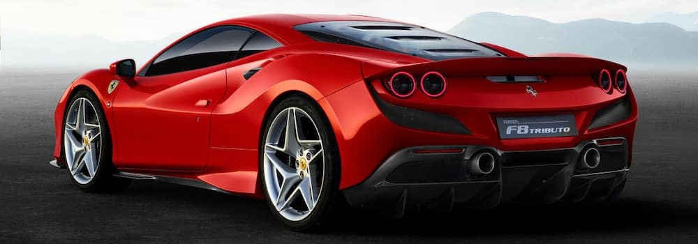 Ferrari F8 Tributo from behind