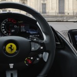 Ferrari Roma instrument panel and center touchscreen