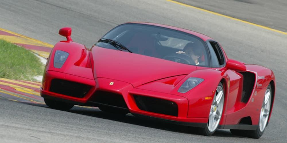 Ferrari Enzo on the track