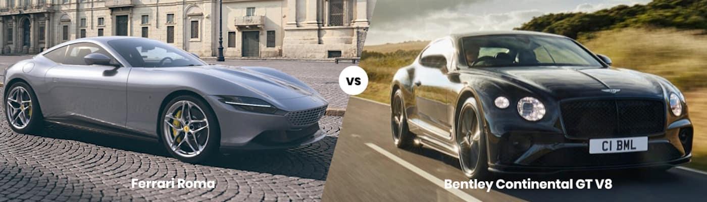 Ferrari Roma vs. Bentley Continental V8