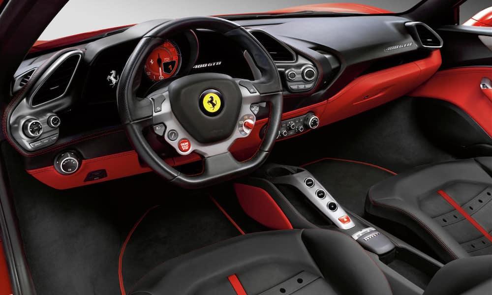 Ferrari 488 GTB front seats