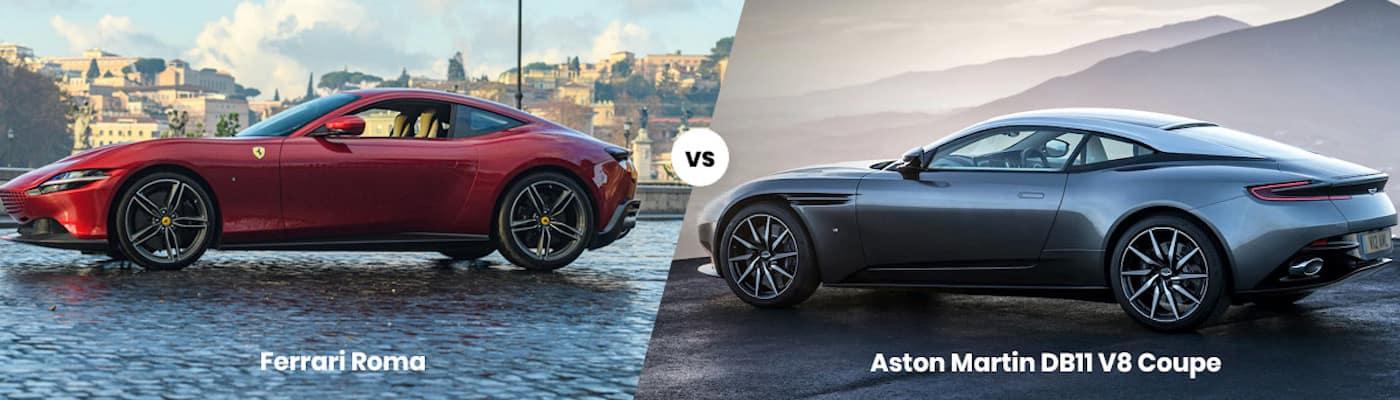 Ferrari Roma vs. Aston Martin DB11 V8 Coupe