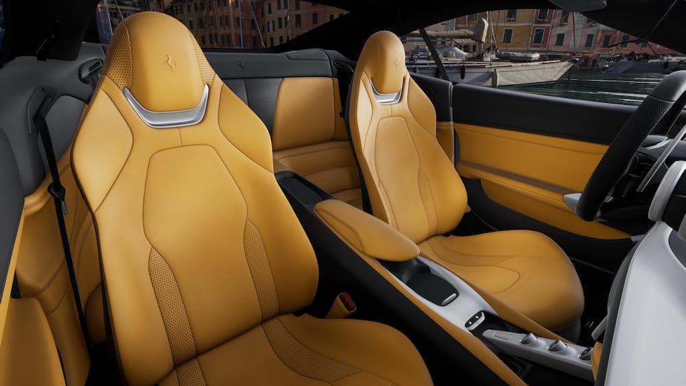 Ferrari Portofino M interior in Beige Tradizione