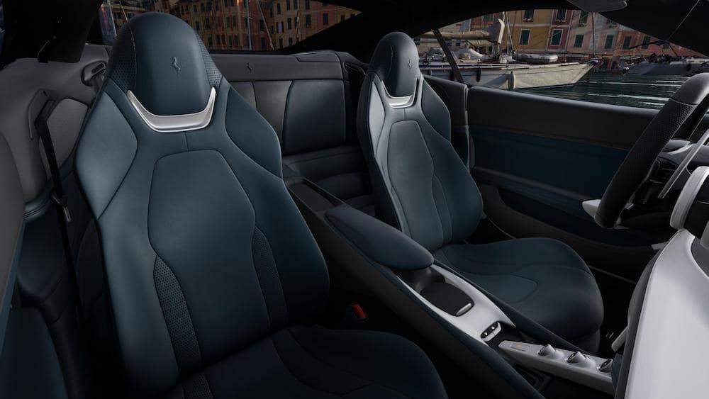 Ferrari Portofino M interior in Blu Medio