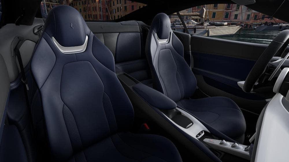 Ferrari Portofino M interior in Blu Sterling
