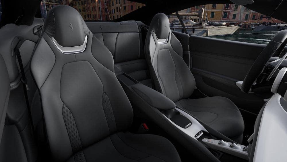 Ferrari Portofino M interior in Charcoal