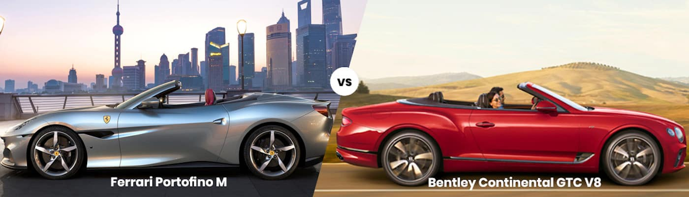 Ferrari Portofino M vs Bentley Continental GTC V8