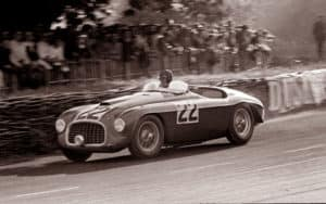 #22 Ferrari 166MM at Le Mans with Chinetti at the Wheel