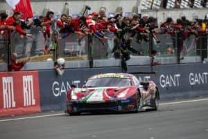 Ferrari 488 GTE taking Le Mans Victory in 2019