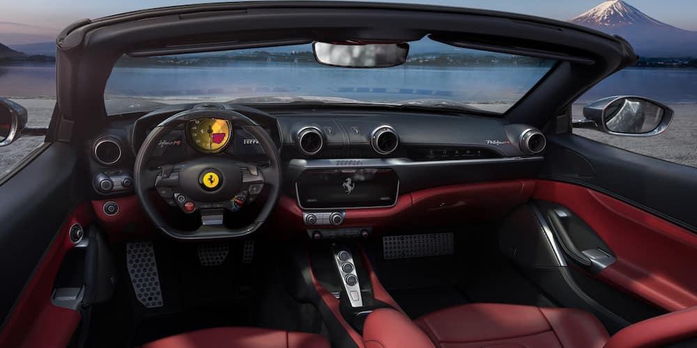 Portofino M front seats and dashboard