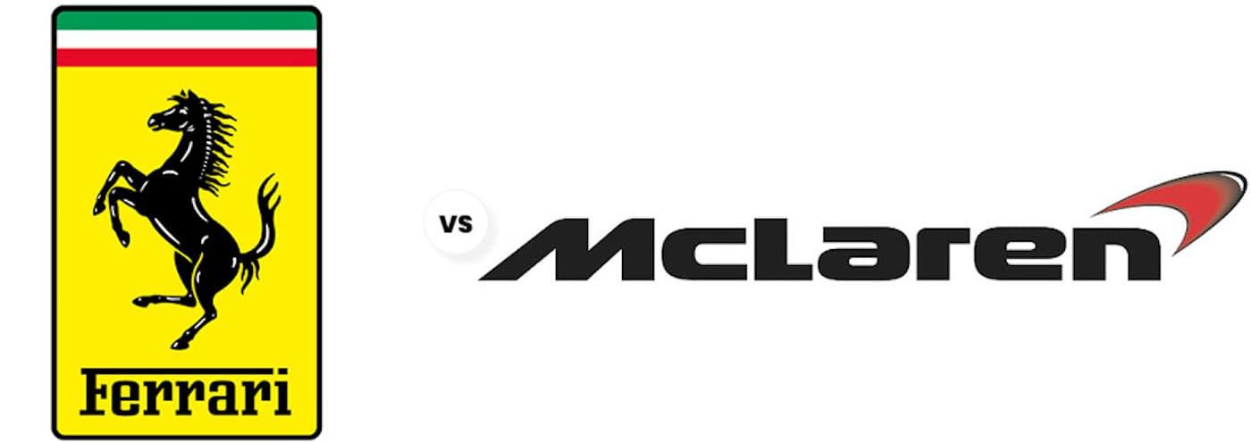 Ferrari vs McLaren logo