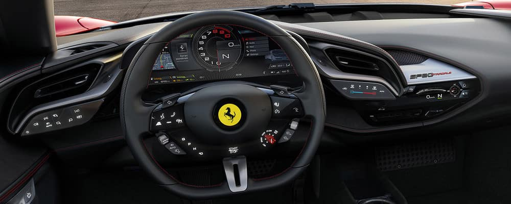 SF90 Stradale steering wheel and dashboard