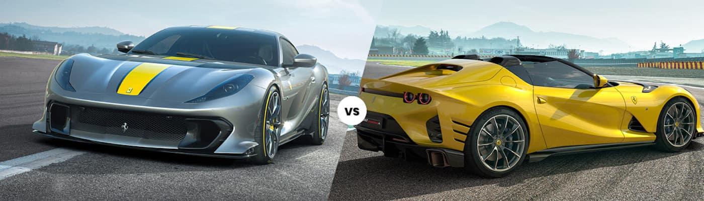 Ferrari 812 Competizione vs 812 Competizione A