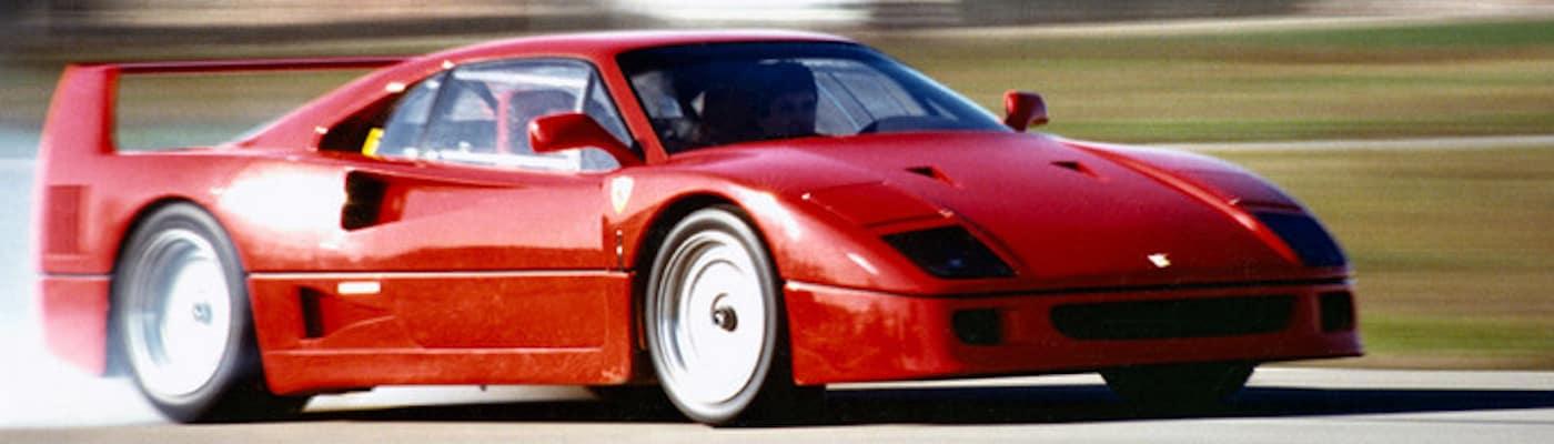 Ferrari F40 on the track