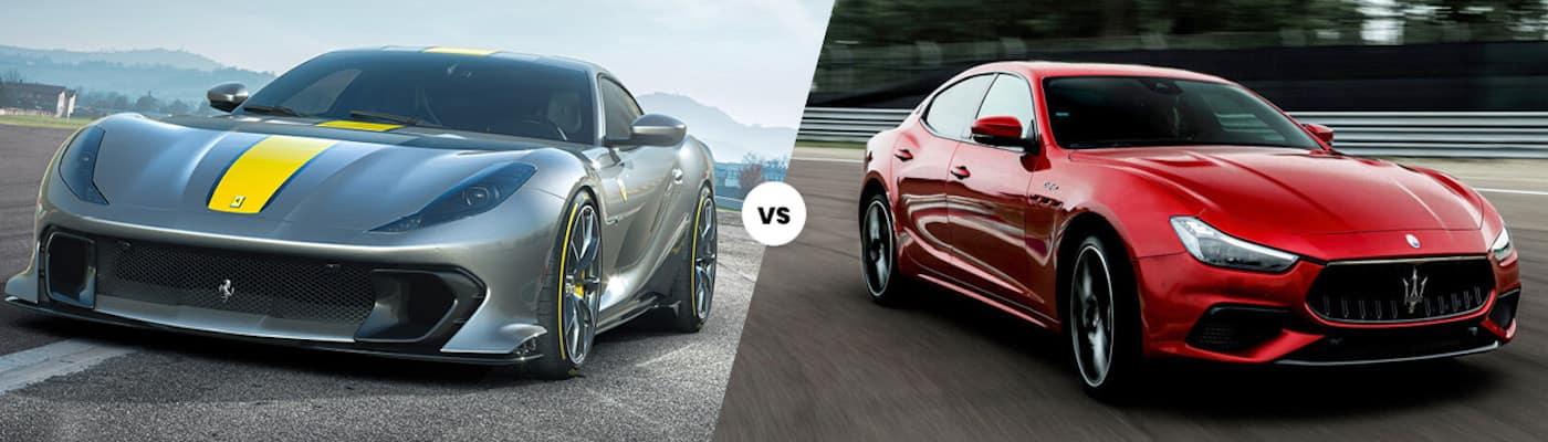 Ferrari 812 Competizion vs Maserati Ghibli