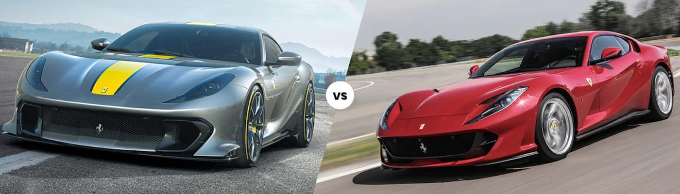 Ferrari 812 Competizione vs Ferrari 812 Superfast