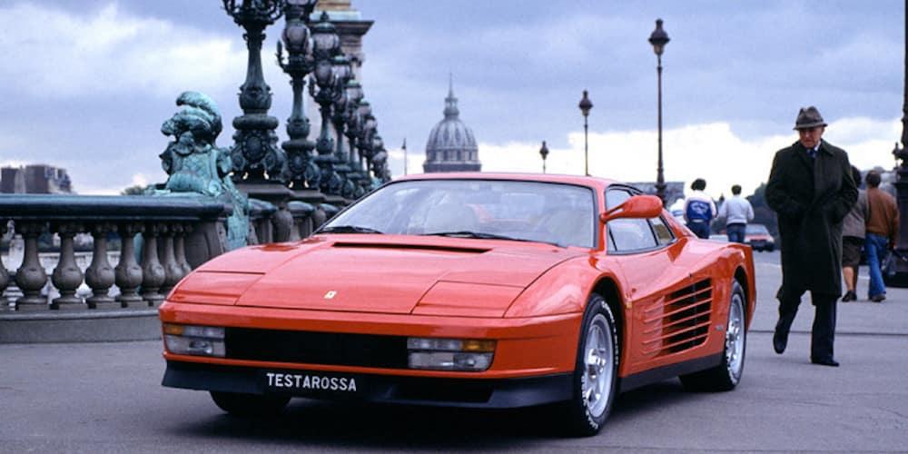 Ferrari Testarossa from the front