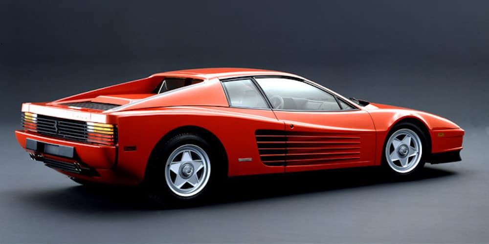 Ferrari Testarossa from the side