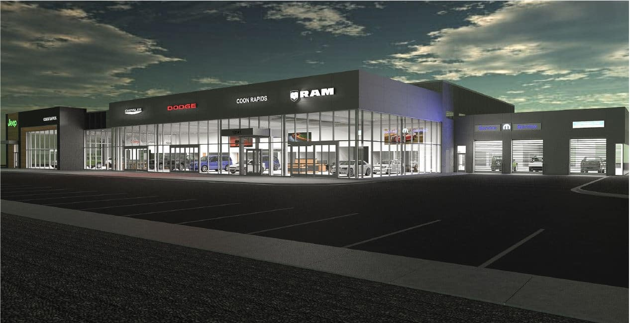 Coon Rapids Jeep >> New Construction Coon Rapids Chrysler Jeep Dodge Ram