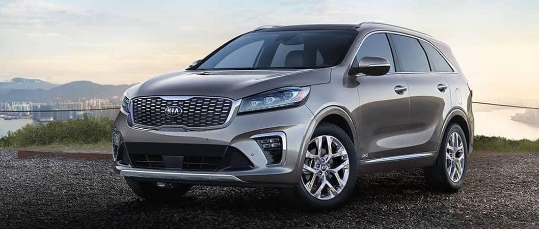 2019 Kia Sorento parked in front of water