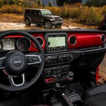 dashboard of 2018 Jeep Wrangler