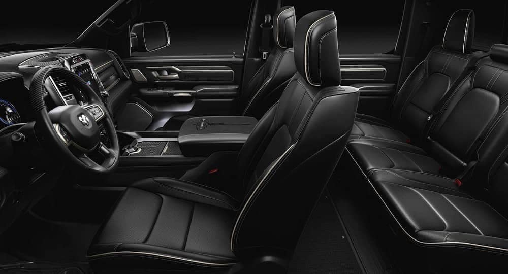 interior cabin and seating in 2019 Ram 1500