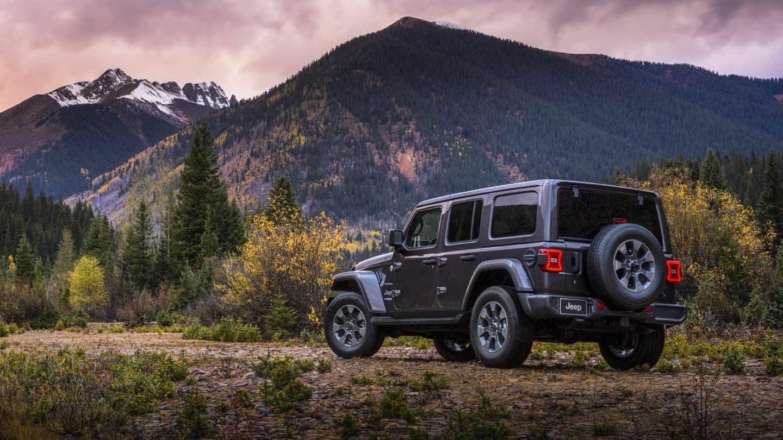 Jeep Wrangler on mountain trail