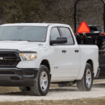2019 All-New RAM 1500 towing trailer with tractor