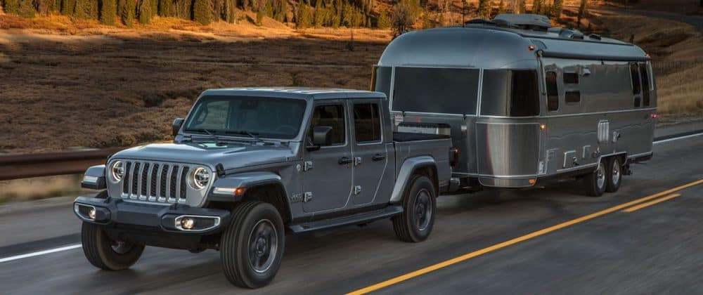 2020 Jeep Gladiator towing an Airstream camper