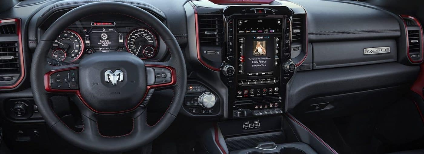 Interior cockpit view of a 2020 RAM 1500