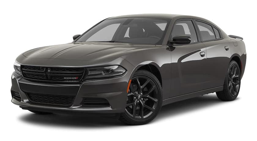 A grey 2020 Dodge Charger is angled left.
