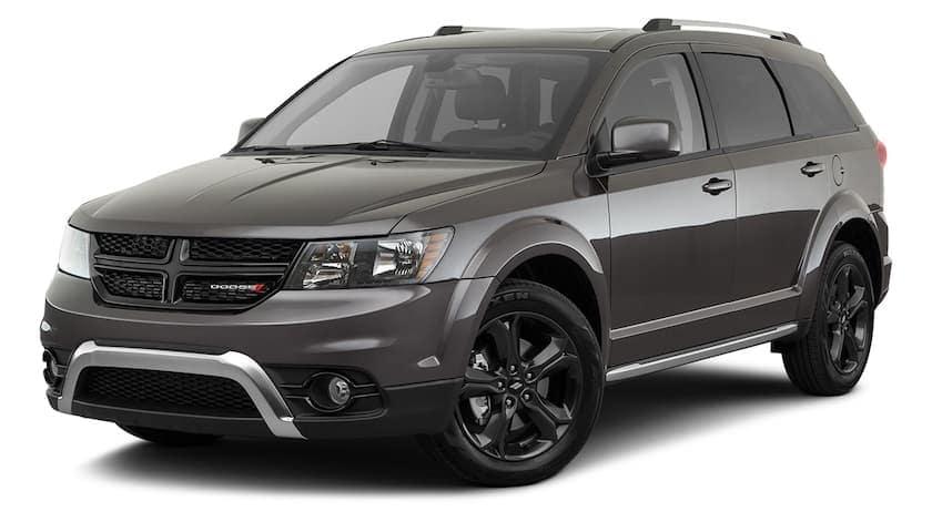 A dark grey 2020 Dodge Journey is angled left.