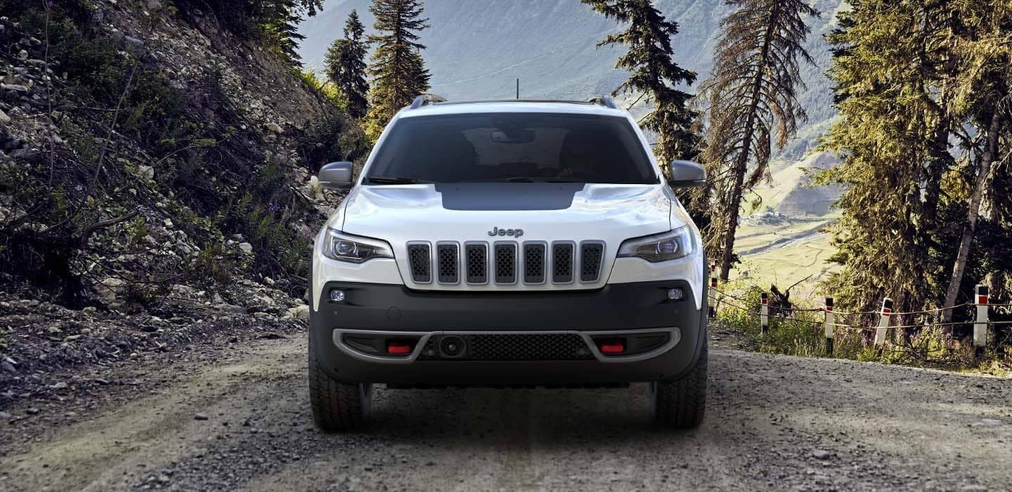 2019 Jeep Cherokee Trailhawk in the forest