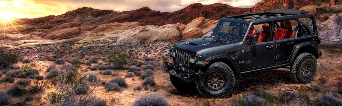 Lifted Jeep Wrangler Offroading