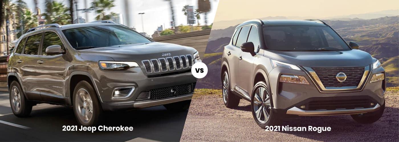 2021 Jeep Cherokee vs. 2021 Nissan Rogue