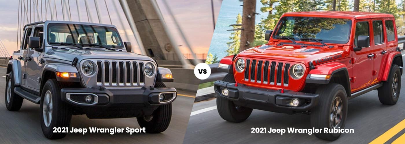 2021 Jeep Wrangler vs. 2021 Jeep Wrangler Rubicon