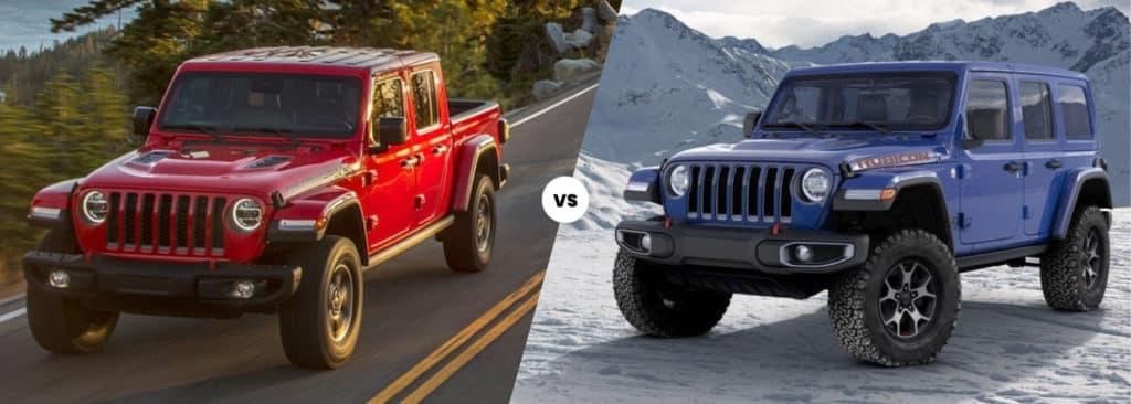 2021 Jeep Gladiator vs. Jeep Wrangler