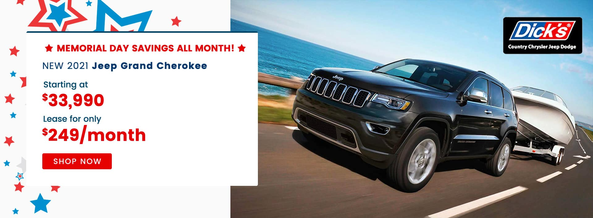 NEW 2021 Jeep Grand Cherokee Starting at $33,990 Lease for only $249/month