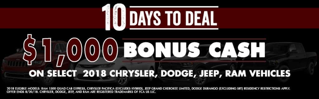 10 Days to Deal Diehl of Salem, Salem, Ohio Chrysler Dodge Jeep Ram Durango Grand Cherokee Pacifica Ram