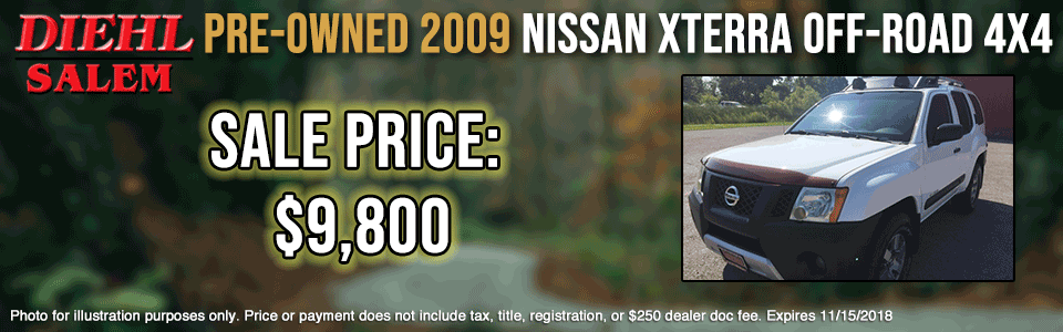 pre-owned vehicle specials PRE-OWNED-2009-NISSAN-XTERRA-OFF-ROAD-4WD-OCT pre-owned specials preowned specials used specials salem specials ohio specials certified preowned specials CPO chrysler dodge jeep ram