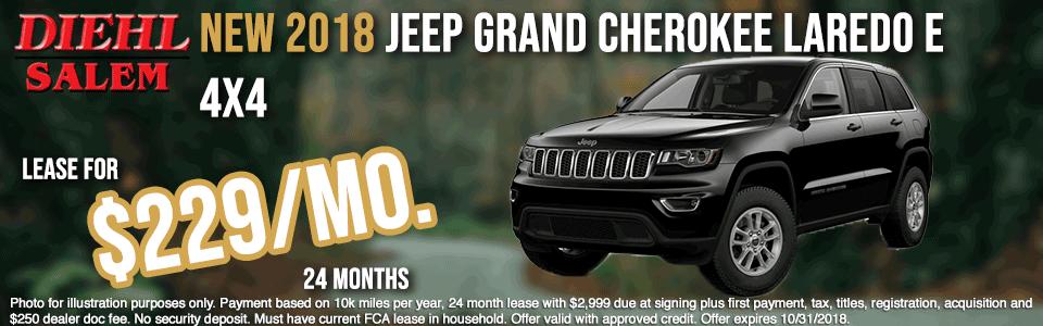 SJ1840--2018-JEEP-GRANDCHEROKEE-LAREDO-4WHEEL-DRIVE--OCT Diehl automotive diehl auto diehl of salem specials new vehicle specials Chrysler specials dodge specials jeep specials ram specials lease specials salem ohio specials