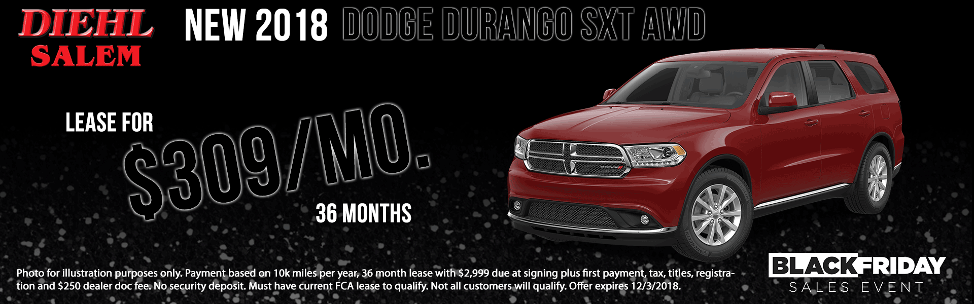 Diehl of Salem ohio chrysler jeep dodge ram new and used sales, service, parts, accessories, monthly specials NEW 2018 DODGE DURANGO SXT PLUS AWD