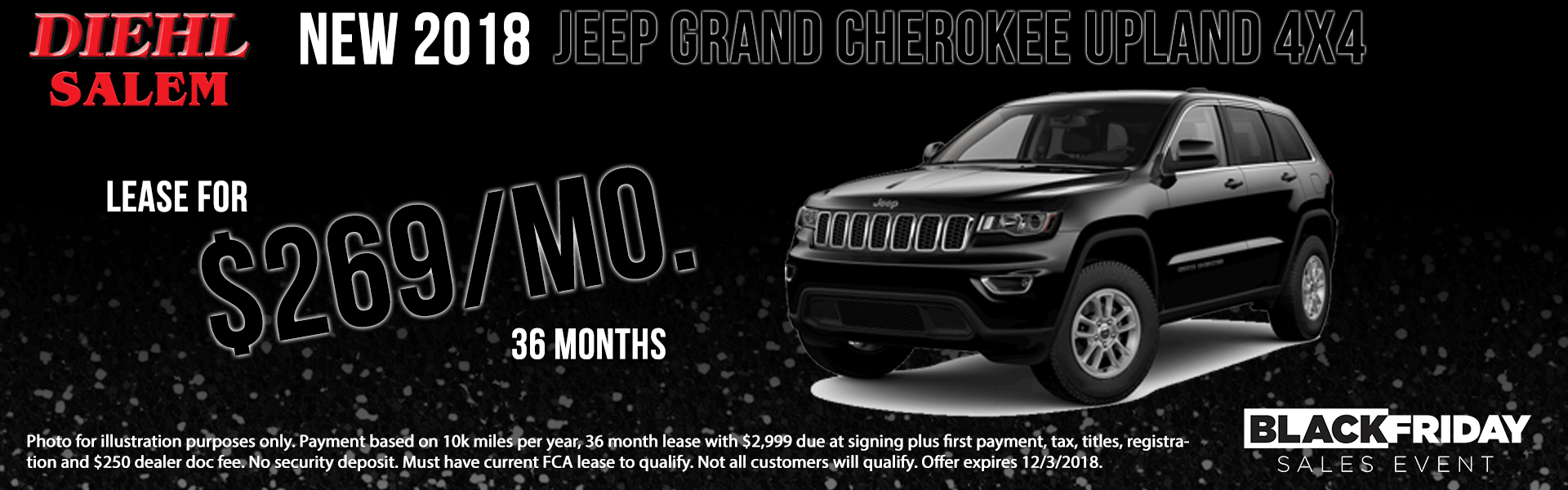 Diehl of Salem ohio chrysler jeep dodge ram new and used sales, service, parts, accessories, monthly specials NEW 2018 JEEP GRAND CHEROKEE UPLAND 4X4