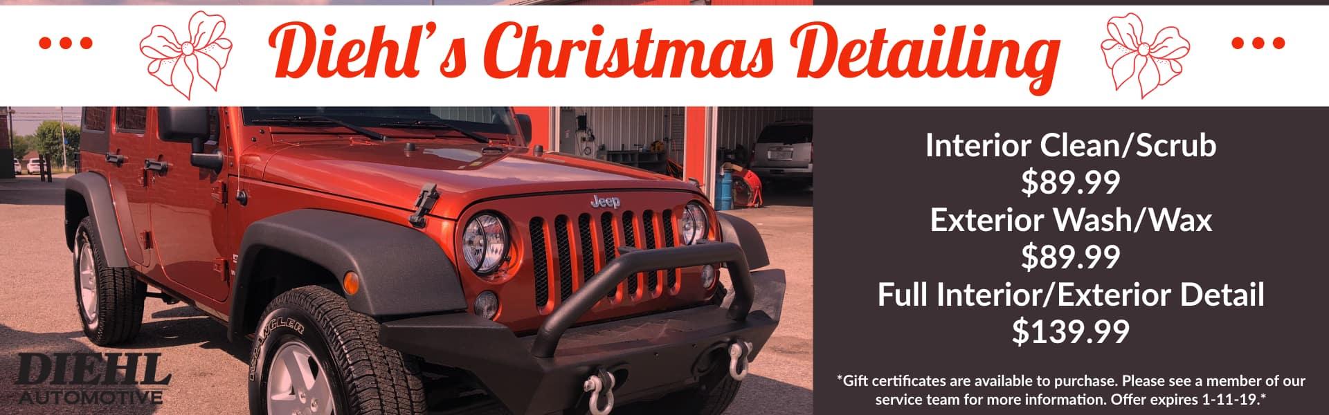 diehl christmas detailing diehl automotive car detail interior detail exterior detail cleaning wax shine vehicle service vehicle care salem ohio