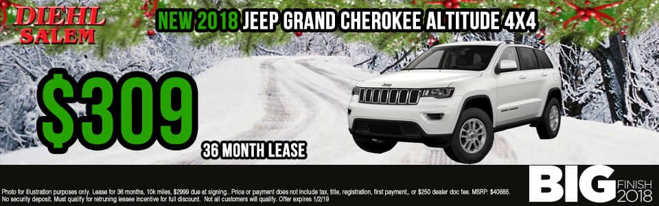 Diehl of Salem ohio chrysler jeep dodge ram new and used sales, service, parts, accessories, monthly specials NEW 2018 JEEP GRAND CHEROKEE ALTITUDE 4X4