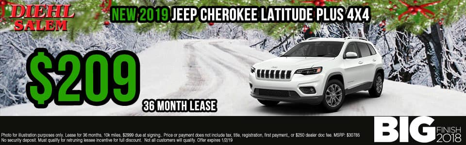 Diehl of Salem ohio chrysler jeep dodge ram new and used sales, service, parts, accessories, monthly specials EW 2019 JEEP CHEROKEE LATITUDE PLUS 4X4