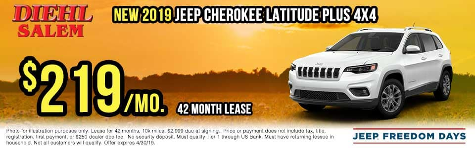 SJ19128-2019-jeep-cherokee-latitude-plus Spring sales event jeep freedom days dodge performance days new vehicle specials lease specials vehicle sales jeep special dodge special Chrysler special ram special diehl auto Salem Ohio