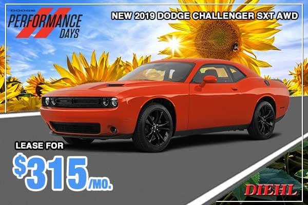 NEW 2019 DODGE CHALLENGER SXT AWD