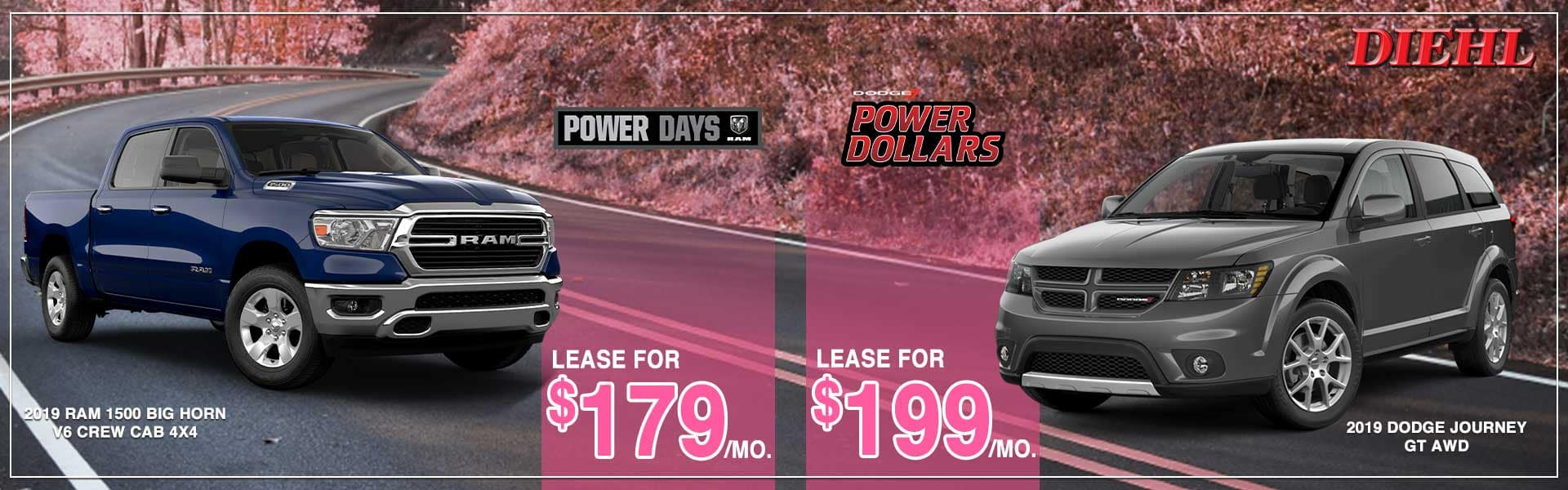diehl auto Dodge power dollars jeep adventure days ram power days dodge lease special ram lease special Chrysler lease special jeep lease special glimmer of hope breast cancer awareness cars for a cause Diehl of Salem Ohio mopar